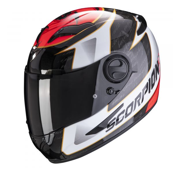 Scorpion Helm EXO-490 Tour white-red