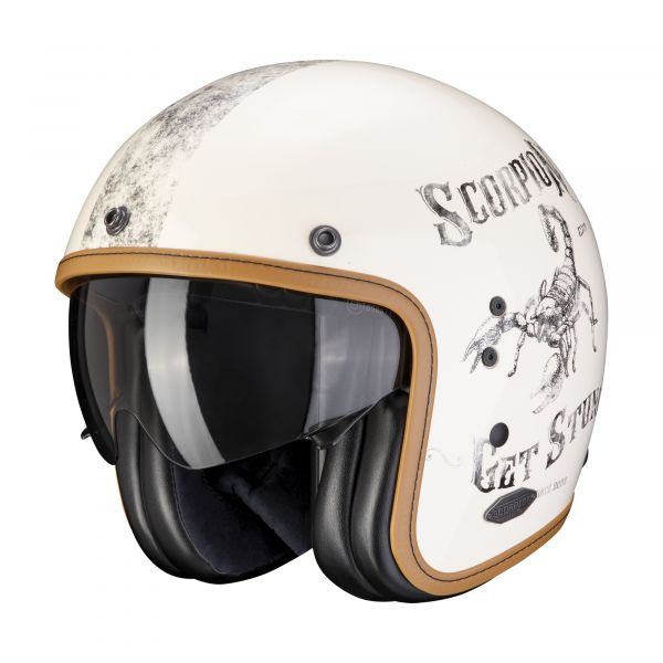 Scorpion Helm BELFAST PIQUE cream-black