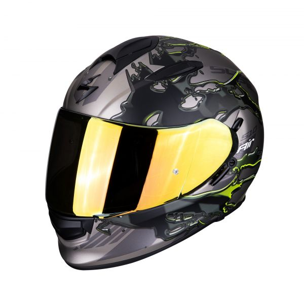 Scorpion Helm EXO-510 AIR LIKID titanium-neon yellow