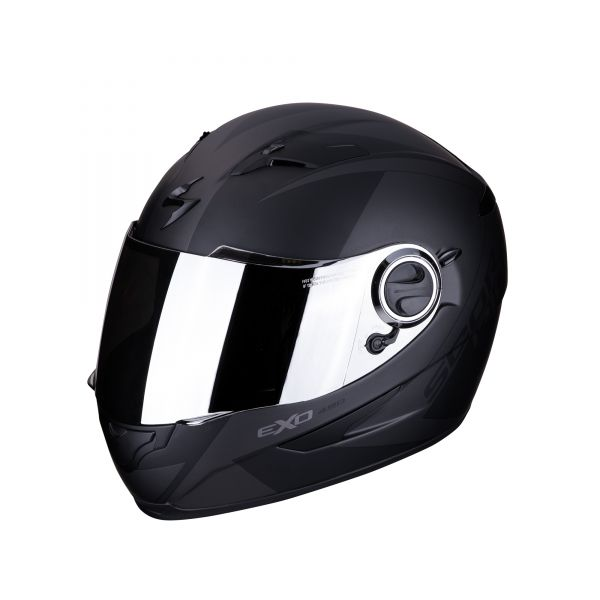 Scorpion Helm EXO-490 PACE matt black-silver