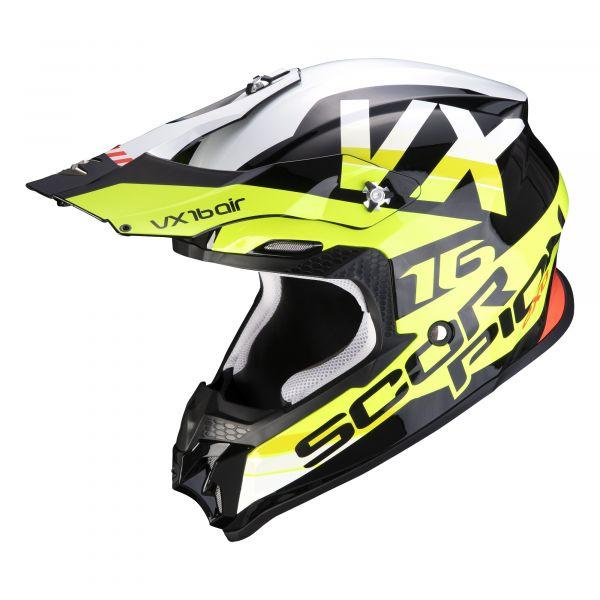 Scorpion VX-16 AIR X-Turn black-neon yellow-white