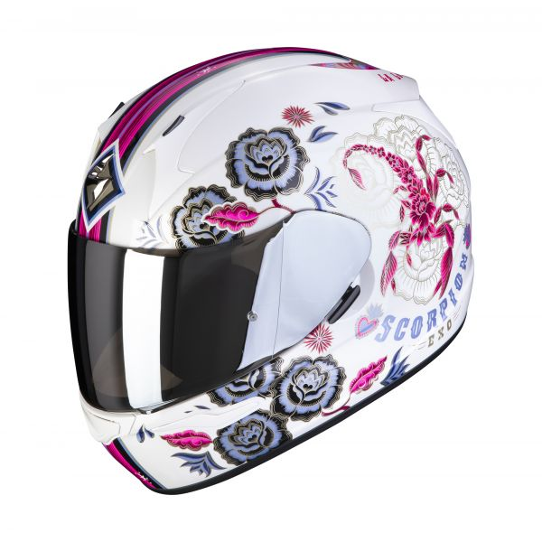 Scorpion Helm EXO-390 Chica 2 white-pink