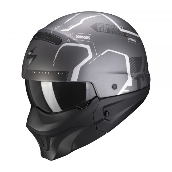 Scorpion EXO-Combat Evo RAM matt dark grey-silver