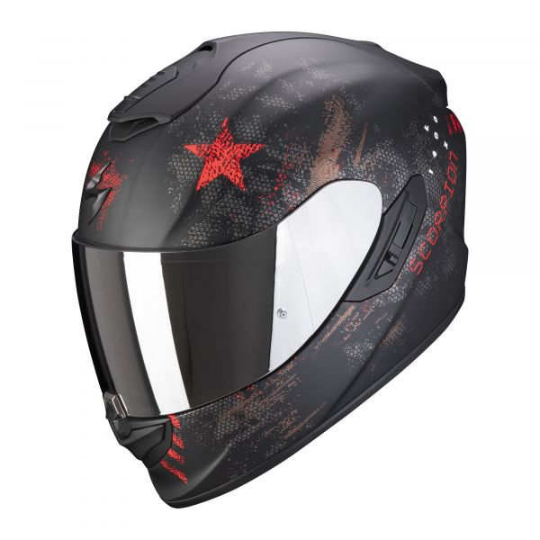 Scorpion EXO-1400 AIR ASIO matt black-red