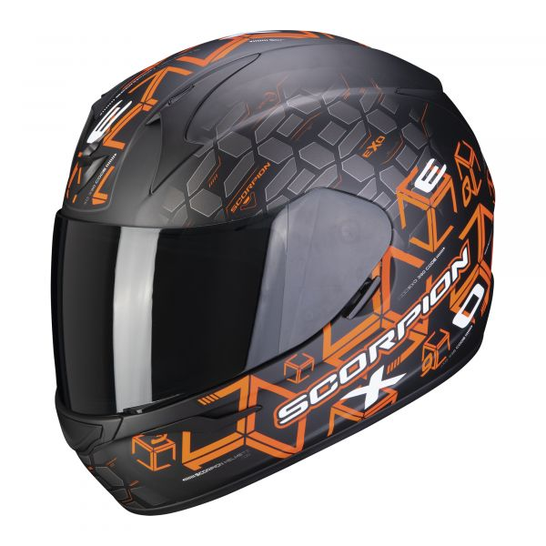 Scorpion Helm EXO-390 Cube matt black-orange