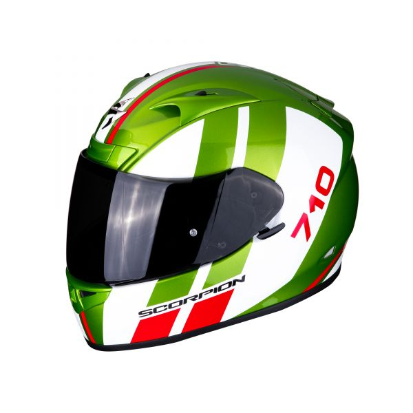 Scorpion Helm EXO-710 AIR GT green-white-red