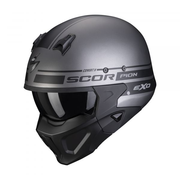 Scorpion Covert-X TUSSLE matt silver-black