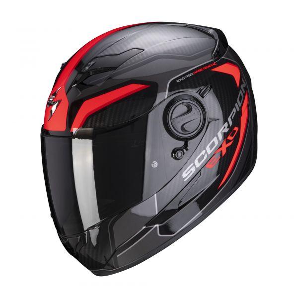 Scorpion Helm EXO-490 SUPERNOVA black-red