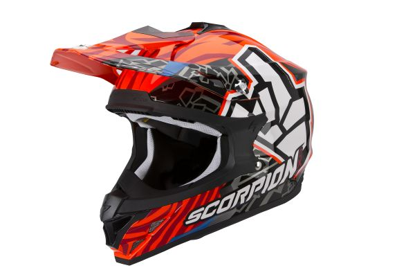 Scorpion Crosshelm VX-15 EVO AIR ROK BAGOROS Neon Orange