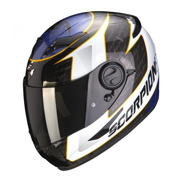 Scorpion Helm EXO-490 Tour white-blue