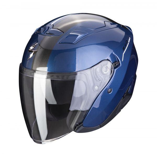 Scorpion Helm EXO-230 SR dark blue-white