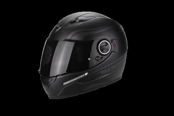 Scorpion Helm EXO-490 Luz mattschwarz-silber
