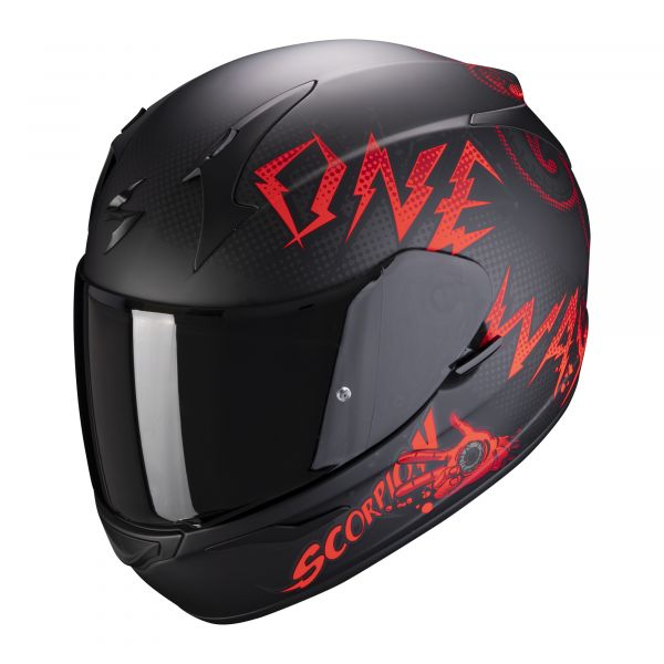 Scorpion Helm EXO-390 Oneway matt black-red