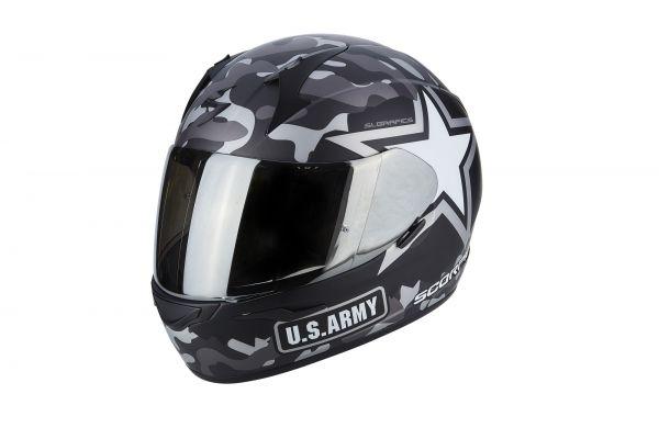 Scorpion Helm EXO-390 Army Matt Black-Silver