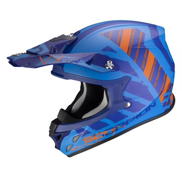 Scorpion Crosshelm VX-21 AIR Urba matt blue-orange