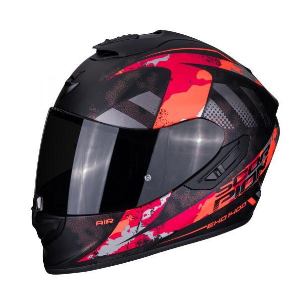 Scorpion EXO-1400 AIR SYLEX matt black-red