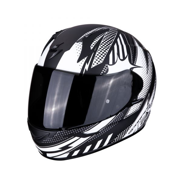 Scorpion Helm EXO-390 POP matt black-white