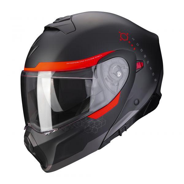 Scorpion EXO-930 SHOT matt black-red