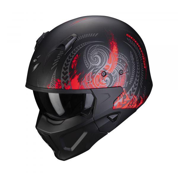 Scorpion Covert-X TATTOO matt silver-red