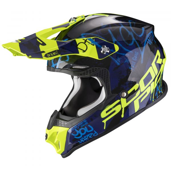 Scorpion VX-16 AIR Oratio black-blue-neon yellow