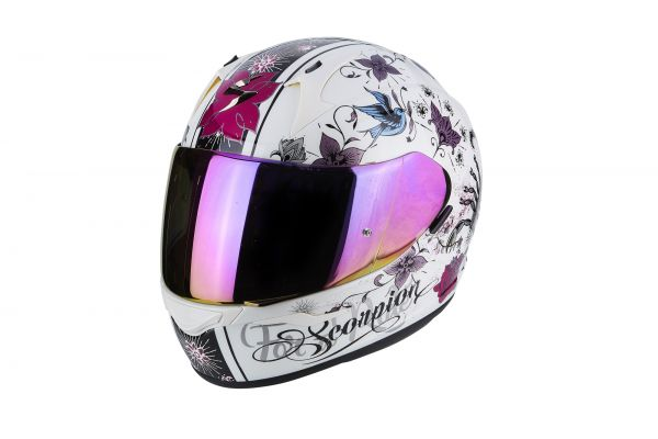 Scorpion Helm EXO-390 Chica Pearl White-Black