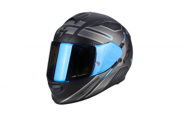 Scorpion Helm EXO-510 AIR Route Matt Black-Blue