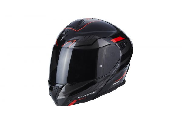 Scorpion EXO-920Shuttle schwarz-silber-rot