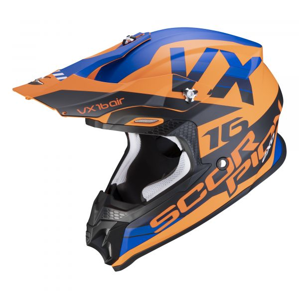 Scorpion VX-16 AIR X-Turn matt orange-blue