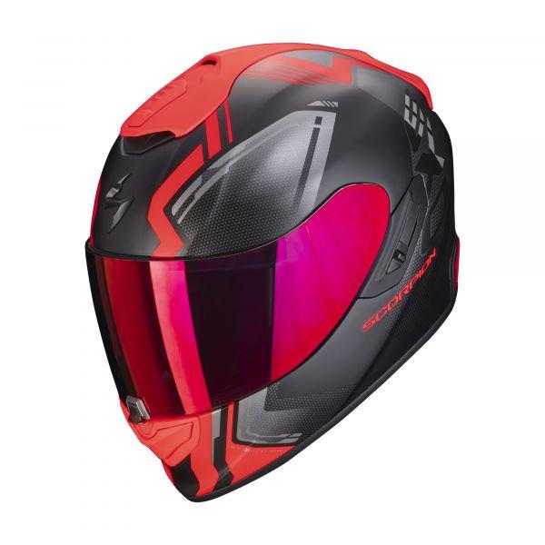 Scorpion EXO-1400 AIR CORSA matt black-red