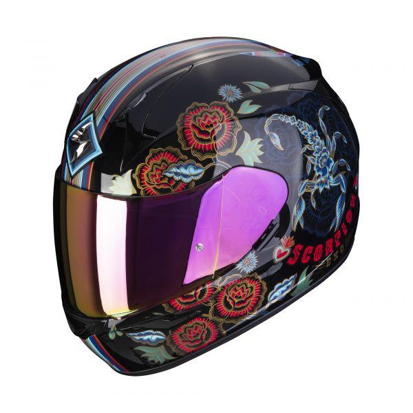 Scorpion Helm EXO-390 Chica 2 black-blue-red