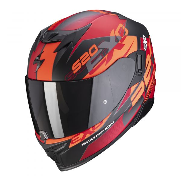 Scorpion EXO-520 AIR COVER matt black-red