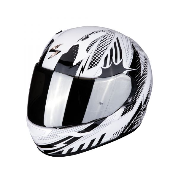 Scorpion Helm EXO-390 POP white-black
