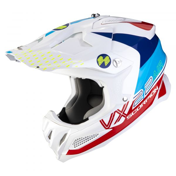 Scorpion VX-22 AIR ARES white blue-red